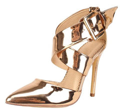 AVA198 ROSE GOLD WOMEN'S HEEL - Wholesale Fashion Shoes