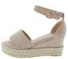 Grass203 Beige Women's Wedge - Wholesale Fashion Shoes