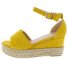 Grass203 Yellow Women's Wedge - Wholesale Fashion Shoes