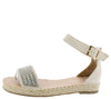 Grass304 Beige Women's Sandal - Wholesale Fashion Shoes
