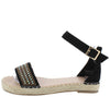 Grass304 Black Women's Sandal - Wholesale Fashion Shoes