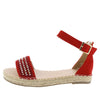 Grass304 Red Women's Sandal - Wholesale Fashion Shoes