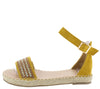 Grass304 Yellow Women's Sandal - Wholesale Fashion Shoes