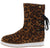 Gamechanger Leopard Rear Lace Up Flat Boot