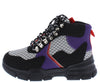 Ghandi42 Black Multi Lace Up Hiking Boot - Wholesale Fashion Shoes