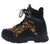 Ghandi19 Leopard Lace Up Chunky Hiking Boot