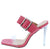 Ruby171 Coral Buckle Strap Open Toe Lucite Stiletto Heel