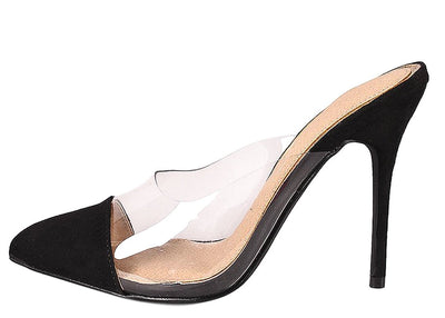 Luna142 Black Woman's Heel - Wholesale Fashion Shoes
