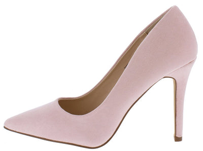 Gigi03 Mauve Pointed Toe Stiletto Pump Heel - Wholesale Fashion Shoes