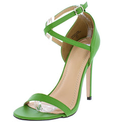 ALONDRA3 GREEN WOMEN'S HEEL - Wholesale Fashion Shoes