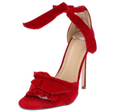 KATE286 RED SUEDE WOMEN'S HEEL