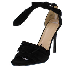 KATE286 BLACK SUEDE WOMEN'S HEEL