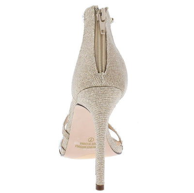 Valentina067 Nude Embellished Strappy Open Toe Heel - Wholesale Fashion Shoes