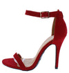 Girltalk11m Red Open Toe Ankle Strap Stiletto Heel - Wholesale Fashion Shoes
