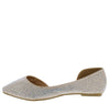 Giselle30 Champagne Sparkle Pointed Toe Half Dorsay Flat - Wholesale Fashion Shoes