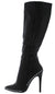 Giselle34 Black Pu Studded Knee High Stiletto Boot