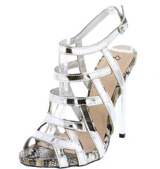 GLADLY06 SILVER WOMEN'S HEEL - Wholesale Fashion Shoes