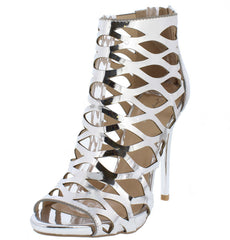 GLADLY33 SILVER WOMEN'S HEEL - Wholesale Fashion Shoes