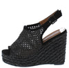 Grass2 Black Women's Wedge - Wholesale Fashion Shoes