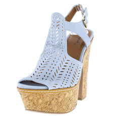 GUSTO42 ASH BLUE WOMEN'S HEEL - Wholesale Fashion Shoes