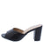 Marta039 Black Pu Peep Toe Slide Block Heel