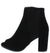 Brenda055 Black Sparkle Lace Peep Toe Ankle Boot