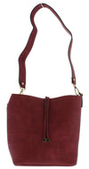 Mia23 Burgundy Women's Handbag Three Piece Set - Wholesale Fashion Shoes