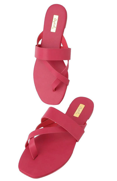 Hazy52 Fuchsia Pu Women's Sandal - Wholesale Fashion Shoes