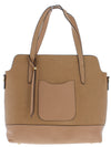 Talia22 Taupe Women's Handbag Two Piece Set - Wholesale Fashion Shoes
