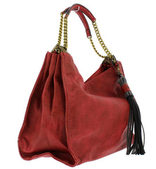 CRIMSON RED WOMEN'S HANDBAG - Wholesale Fashion Shoes