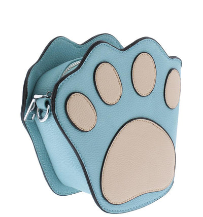 Mila216 Light Blue 3D Paw Cross Body Handbag - Wholesale Fashion Shoes