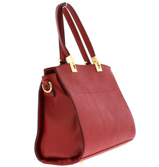 LYSANDER BURGUNDY WOMEN'S HANDBAG - Wholesale Fashion Shoes
