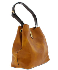 GIZELLE09 BROWN WOMEN'S HANDBAG - Wholesale Fashion Shoes