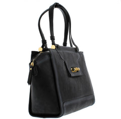DUNIA BLACK DISTRESSED WOMEN'S HANDBAG - Wholesale Fashion Shoes