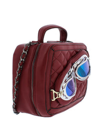 VERONICA BURGUNDY WOMEN'S HANDBAG - Wholesale Fashion Shoes