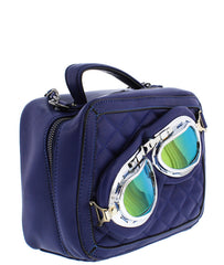 VERONICA NAVY BLUE WOMEN'S HANDBAG - Wholesale Fashion Shoes