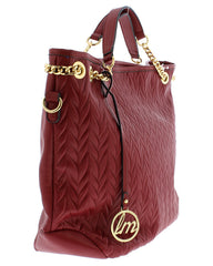 BELINDA82 BURGUNDY  WOMEN'S HANDBAG - Wholesale Fashion Shoes