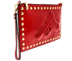 JAINE'S GOT A GUN RED WOMEN'S HANDBAG CLUTCH - Wholesale Fashion Shoes