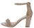 Hannah1 Nude Patent Open Toe Ankle Strap Tapered Block Heel