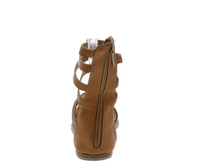 Happiness85m Tan Strappy Open Toe Gladiator Sandal - Wholesale Fashion Shoes