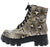Harris Snake Lace Up Lug Sole Combat Boot