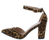 Hazel02 Leopard Women's Heel - Wholesale Fashion Shoes