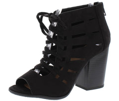 HAZYS BLACK WOMEN'S HEEL - Wholesale Fashion Shoes