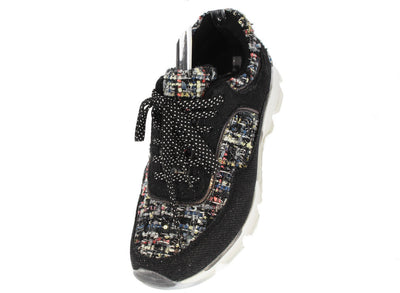 Heavenly01x Black Multi Glitter Sneaker Flat - Wholesale Fashion Shoes