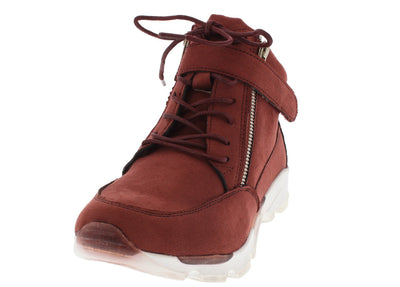 Heavenly07 Marsala Lace Up Sneaker Flat - Wholesale Fashion Shoes