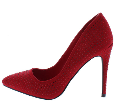 Hibiscus15s Red Women's Heel - Wholesale Fashion Shoes