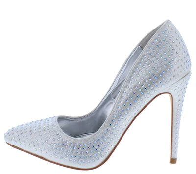 Hibiscus15s Silver Women's Heel - Wholesale Fashion Shoes