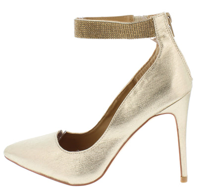 Hibiscus16s Gold Women's Heel - Wholesale Fashion Shoes