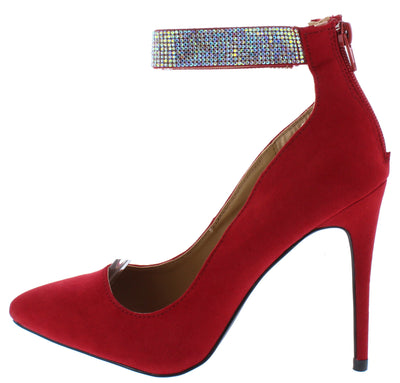 Hibiscus16s Red Women's Heel - Wholesale Fashion Shoes