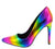 Hibiscus26 Rainbow Hologram Pointed Toe Stiletto Heel